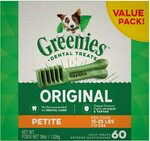 Greenies Original Petite Dental Dog Treat, 1kg (60 Treats) - $34 Delivered (30.60 with S&S) @ Amazon AU