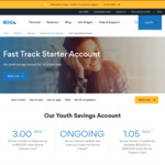 Bank of Queensland Fast Track Starter for 14-24 Year Olds: 3% Interest on Balances up to $10,000