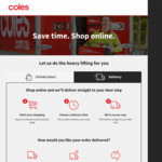 $2 Delivery for Selected Midweek 6 Hour Delivery Windows @ Coles