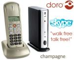 Doro Digital + Skype Cordless Phone in One $49 +Shipping