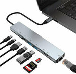 Bakeey 8 in 1 USB C Hub with HDMI, 87W PD, 2 USB 3.0, Ethernet, Card Reader US$20.99 (~A$27.14) AU Stock Delivered @ Banggood