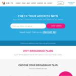 nbn Unlimited 100/40 $89.95/M,  50/20 $69.95/M  + First Month Free (Minimum 12 Months) @ Uniti Wireless