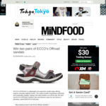 Win Two Pairs of ECCO's Offroad Sandals from MiNDFOOD