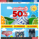 50% off Everything Storewide: Mens Underwear, Swimwear and Clothing + Delivery ($0 with $50 Spend) @ aussieBum