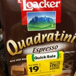 Loacker Quadratini Premium Espresso Wafer Cookies, 110g $0.19 (Short Dated) @ Woolworths [Nationwide]