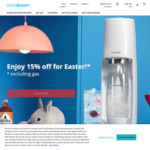 15% off Storewide (Excluding Gas Cylinders) + $12.50 Delivery ($0 with $75 Spend) @ SodaStream