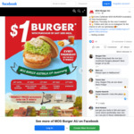 [QLD] $1 MOS Burger with The Purchase of Any Side Meal @ MOS Burger Australia