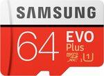 Samsung EVO Plus 64GB Micro SD Card $12 + Delivery ($0 with Prime/ $39 Spend) @ Amazon AU | C&C @ Officeworks/TGG/BL/JB HiFi