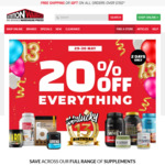 20% off Storewide, $9.95 Delivery (Free with over $150 Spend/ C&C) @ Nutrition Warehouse