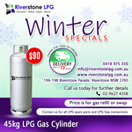 [NSW] 45kg LPG Gas Bottle Swap/Refill $90 (RRP $115) @ Riverstone LPG (Sydney and Surrounding Areas)