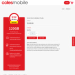 365 Days Prepaid Mobile $119, 120GB Data, Unlimited Talk & Text, 15 Countries, Optus Network @ Coles Mobile