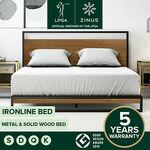 Zinus Ironline Bed: Q $251.20, K $283.20 (eBay Plus Q $244.92, K $276.12) + Free Delivery Most Metro @ Zinus eBay