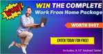 """Win a Complete Work from Home Package & 10"""" Tablet Worth $497 from The Home Business Network"""