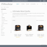 40% off Ultimate Wool Quilt Range + 20% off Pillows and Mattress Toppers + Free Shipping with $149 Spend @ Woolstar