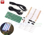 Audio Spectrum DIY Kit AU$4.62, Red LED Light Electronic Soldering Kit A$3.30, LED Spinner DIY Kit AU$6.87+A$6.6 Post @ICStation