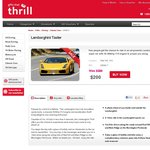 Gifts That Thrill - Lamborghini Ride $99 OFF - Now $200