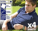4x Mens Cotton Polo Shirts - $3.95 Delivered (99c Each) + Free Watch
