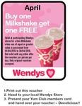 Wendys Buy One Milkshake, Get One Free