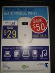 Telstra Elite Prepaid Mobile Wi-Fi (3G) Just $29 RRP$79 at BP  Regional Servos (Reliance Petrol)