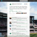 Free Entry to The MCG Ashes Test This Afternoon