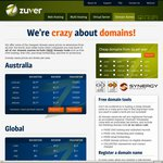 Zuver 75% off NEW Hosting and $10/Yr .au Domains