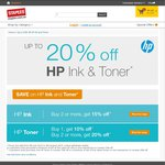 Up to 40% off HP Toner @ Staples