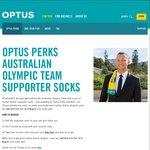 Free Pair of Aus Olympic Team Socks for Optus Perks Members