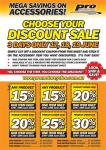 Pro Motorcycle Accessories - Up to 30% off - 17th to 19th June