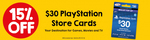 15% off PlayStation Store $30 Gift Cards = $25.50 @ 7 Eleven