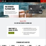 NAB Rewards Platinum + 80,000 Bonus When You Spend $2,500 within 90 Days + No Annual Card Fee for The First Year