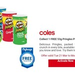 Collect 1 FREE 53g Pringles Pack @ Coles (FlyBuys)