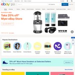 10% off $150, $20 off $100, $25 off $150 Spend @ eBay