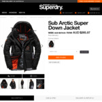 Sub Arctic Super down Jacket $265.97 (Was $379.95) @ Superdry