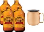 $12, Dan Murphy's (Member Offer) - Moscow Mule Copper Mug and 4x375ml Bundaberg Ginger Beer Bundle (Was $15.98)