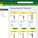 1/2 Price Selected Maybelline Mascaras, Eye make-up, Foundations, Concealers at Woolworths