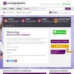 10% Cashback @ Menulog via Cashrewards