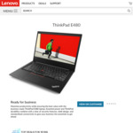 Back to School Lenovo Sale: Lenovo Thinkpad E480 - Intel Core i7 8550u (Quad Core), 8GB RAM, Radeon RX550 $1,092.03