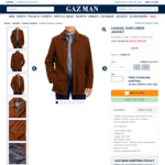 Men's Jacket $49.95 (Was $199), Lambswool Neck Knit $29.95 (Was $99.95), Pants $49.95 (Was $109) Over $100 Free Posted @ Gazman