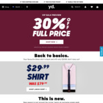 30% Off Mens Clothing from yd