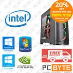 Intel i7 8700K 4.7GHz, 8GB RAM, 120GB SSD, 1TB HD, GTX 1080 8GB: Gaming PC $1775.20 Delivered @ PC Byte eBay