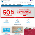 Up to 50% off Sitewide @ Vistaprint
