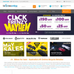 $25 off $100, $50 off $600, $100 off $1000 & $150 off $2000+ Spend - Click Frenzy Mayhem 24hr @ Bicycles Online