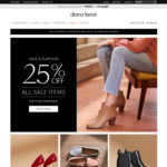 25% off Sale Items (E.G Bags for $29.25, Shoes from $36.75, Leather Boots $74.25, Heels $44.25) @ Diana Ferrari