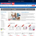 Up to 50% off Sewing Machines ($29.99 to $499.50) Brother FS101 $349.50, Singer One Plus $449.50 & More @ Spotlight & eBay