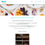 Book & Dine with Any Restaurant before 31/10 & Earn 10,000 Points (= $20 Voucher for Future Booking at Select Locations) @ Dimmi
