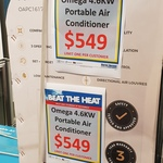 [NSW] Omega Altise 4.6kW Portable Air Conditioner $549 @ Harvey Norman Caringbah