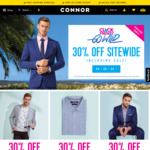 30% off Sitewide (Includes Sale Items) @ CONNOR Clothing