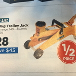 1400kg Trolley Jack $28 (from $75.99) @ Repco