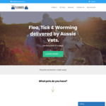 Flea, Tick & Worming (Parasite Treatment) Delivered by Aussie Vets, 50% off Your First Month @ Flea Mail
