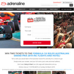 Win a Trip for 2 to The F1 Grand Prix in Melbourne from Adrenaline